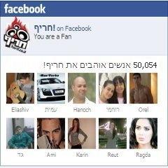 50 אלף חברים בעמוד הפייסבוק של חריף